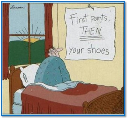 First pants, then your shoes