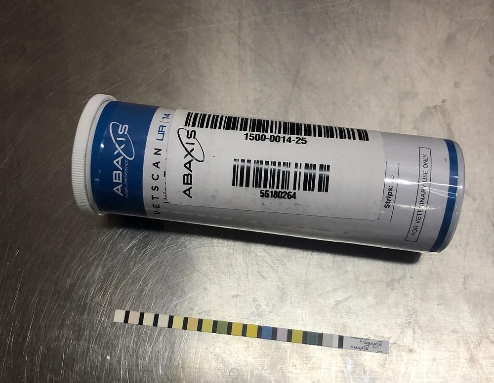 Urine dipstick test strips