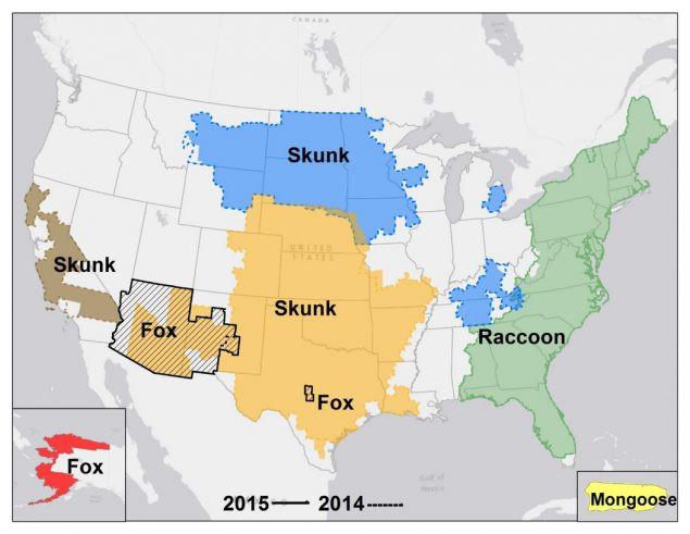 Primary Rabies Carriers Per Region