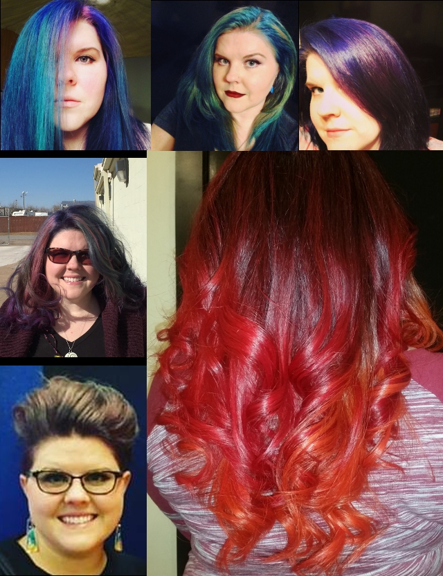 Different hair colors over the years