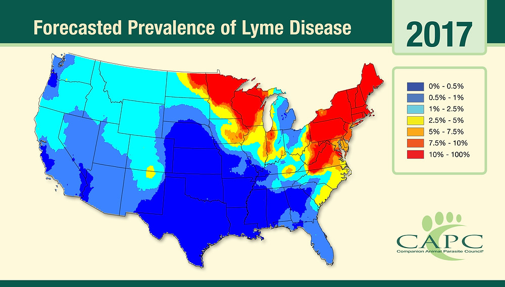 Forcasted Prevalence of Lyme Disease 2017