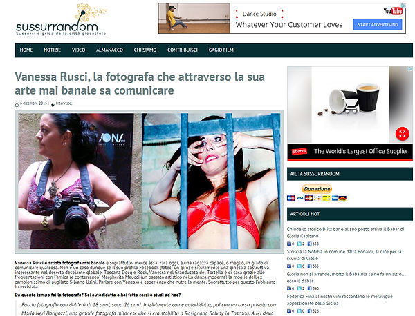 Vanessa Rusci Intervista Sussurandom.it