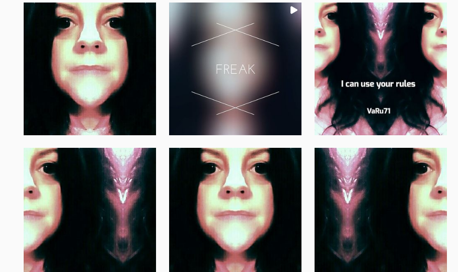 Freak vj and selfportrait - Instagram
