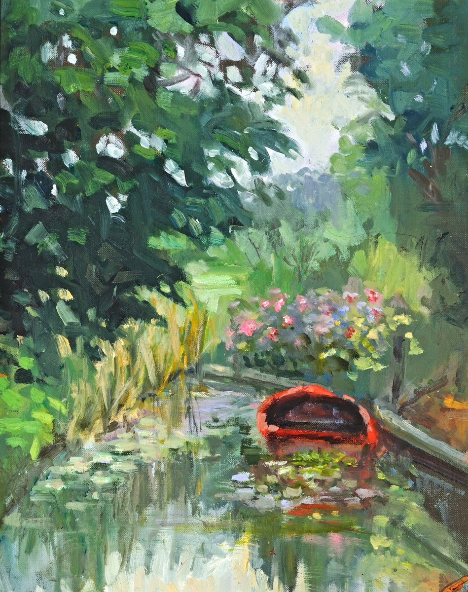 The Red Boat, oil, 12%22x10%22