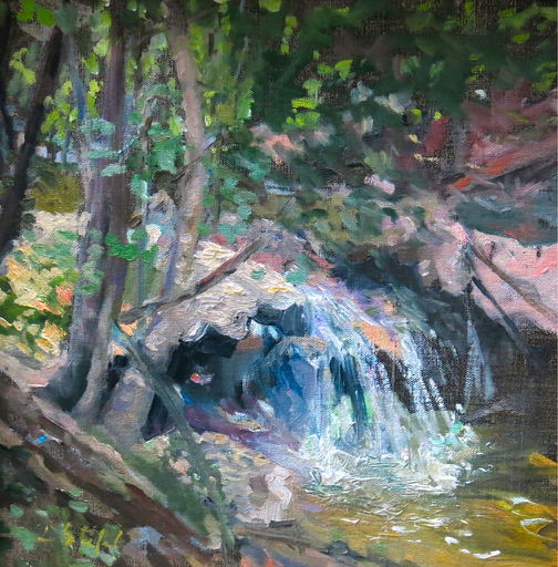 Little Falls, oil, 12_x12_