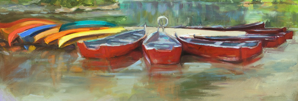 Canoes on the Potomac