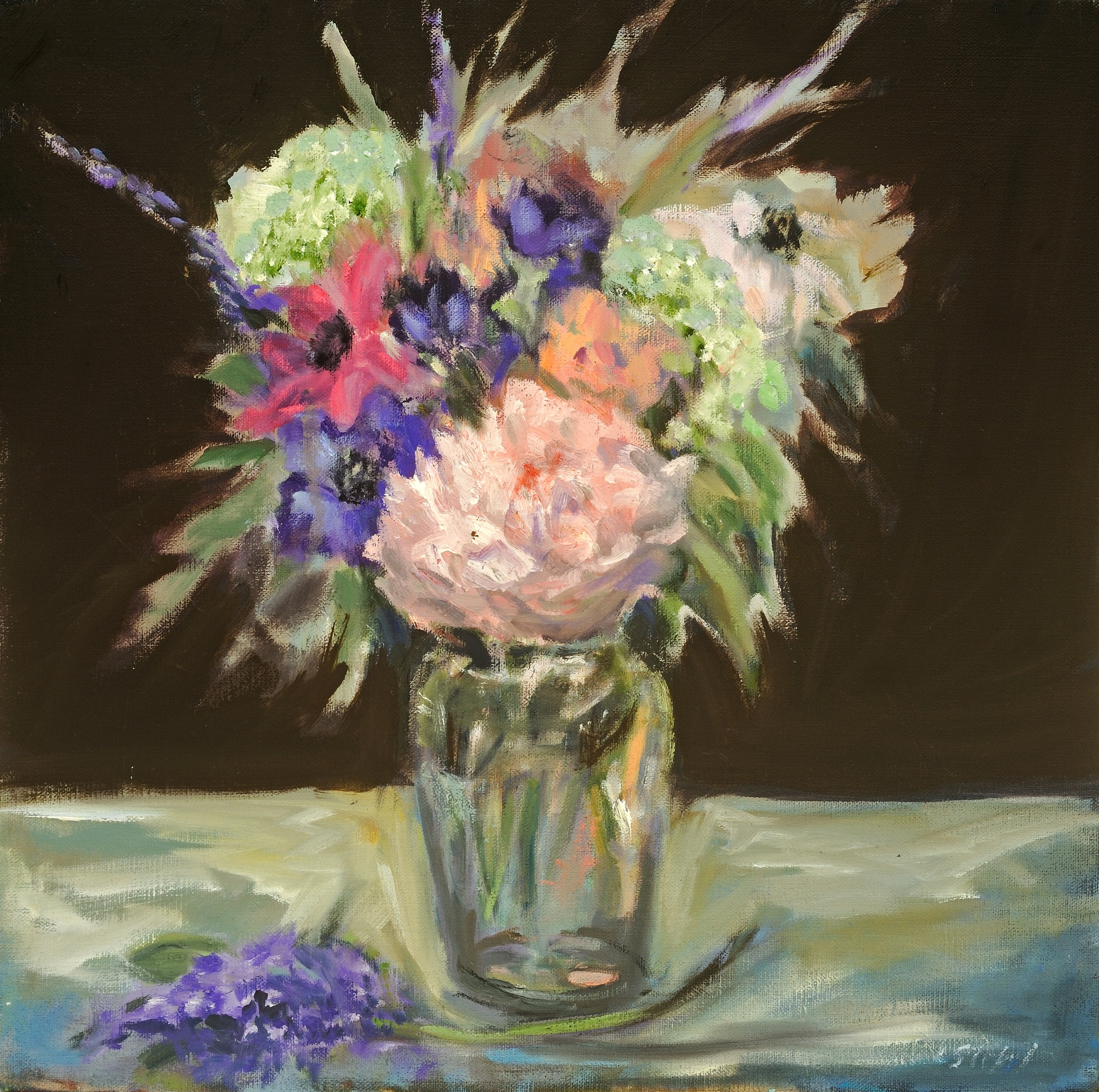 May Flowers, oil, 12%22x12%22