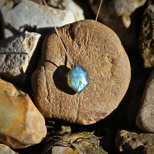 Geometric Labradorite Necklace