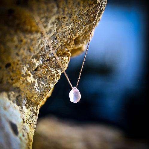 Petite Rose Quartz Necklace
