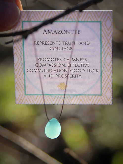 Petite Amazonite Necklace