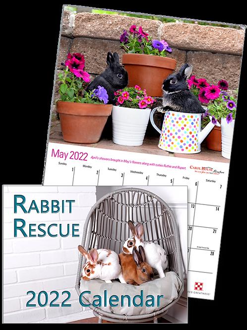 7 Bunny Calendars - 2022  Rabbit Rescue Featuring HRS Bunnies (7x quantity)