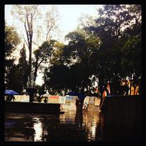 Tarde de lluvia en Coyoacán