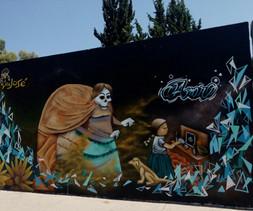 Madre e hija - Arte en grafiti