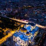 Palacio de Bellas Artes en la alameda