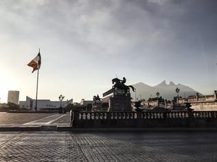 Cerro de la Silla desde el centro de Monterrey