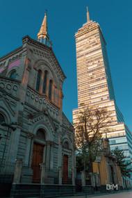 Torre latino y templo de San Francisco.