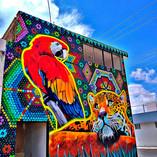 Grafiti de arte huichol