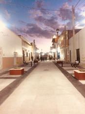 Autora: Elizabeth Rodriguez Instagram: @solodimefa20  Las calles de Lagos de Moreno en el estado de Jalisco cuando comienza a caer el sol.