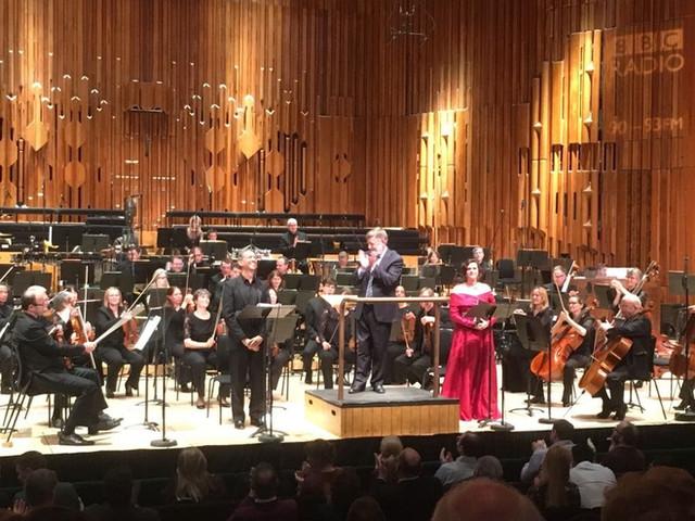 Elgar's Starlight Express, Barbican Hall, BBC SO, Sir Andrew Davis, Roddy Williams, Emma Tring, April 2018.