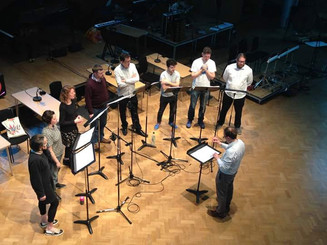 Exaudi rehearsing BBC Open Ear April 2018