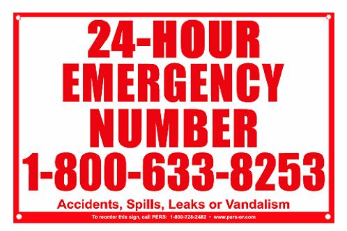 Aluminum Emergency Number Sign