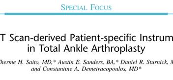 Dr. Guilherme publicou artigo na revista Techniques in Foot and Ankle Surgery