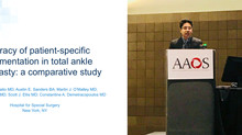 Dr. Guilherme apresenta trabalho no Congresso da Academia Americana de Ortopedia (AAOS) realizado em