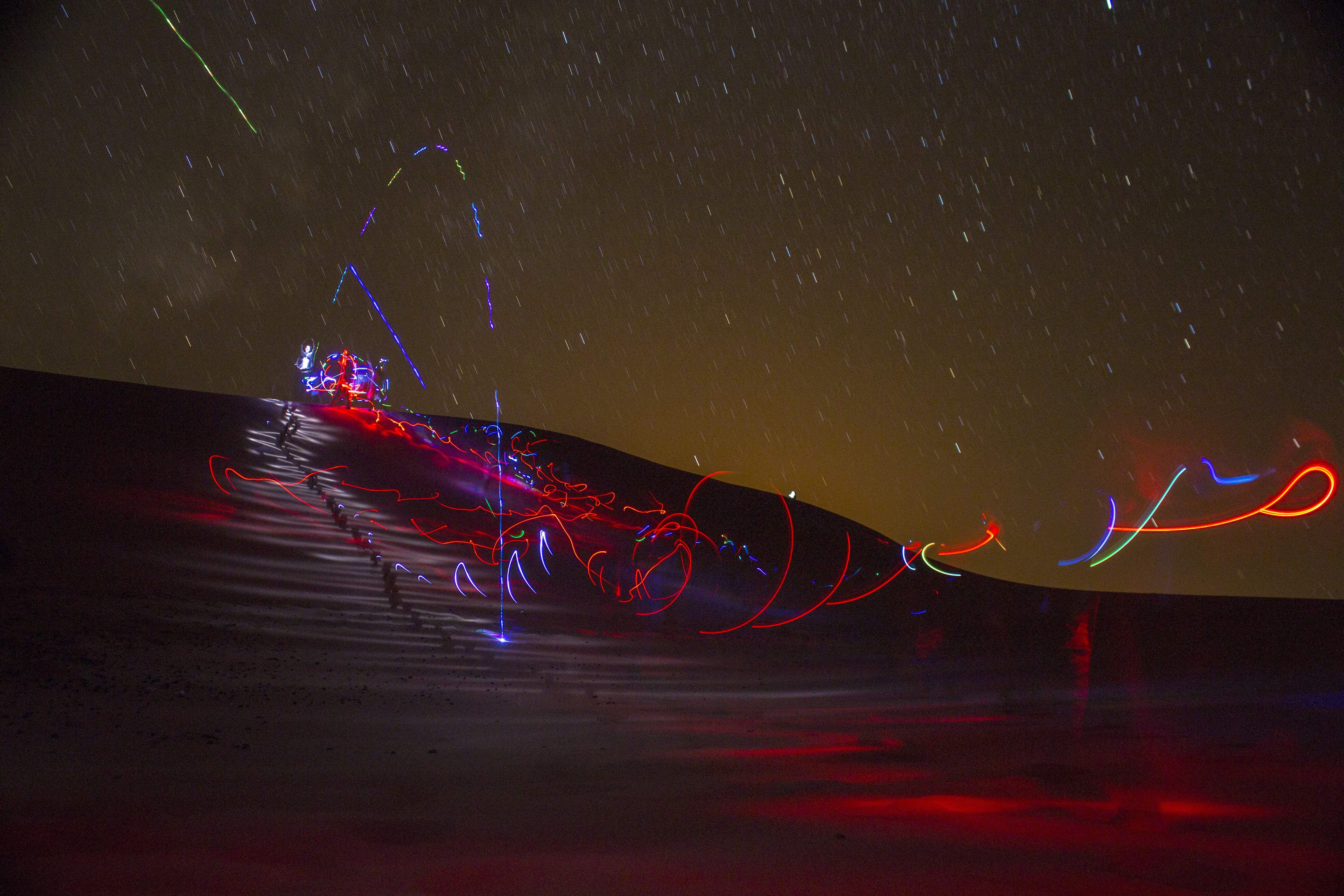 Sahara dune lightpainting