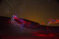 Sahara dune lightpainting