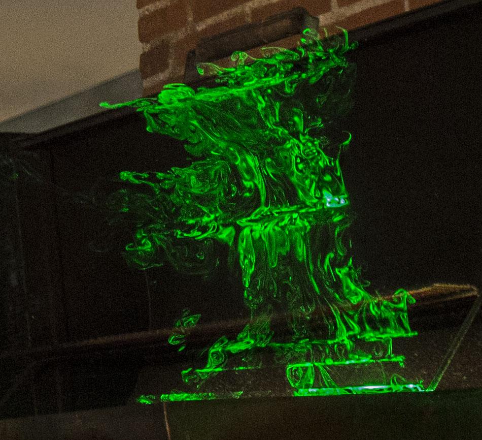 BBQ smoke laser