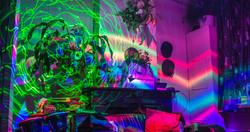 Room light paint laser rainbow