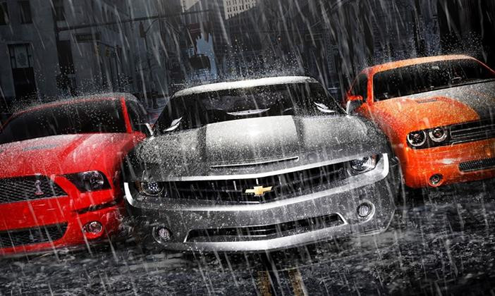 chuva pode limpar o carro