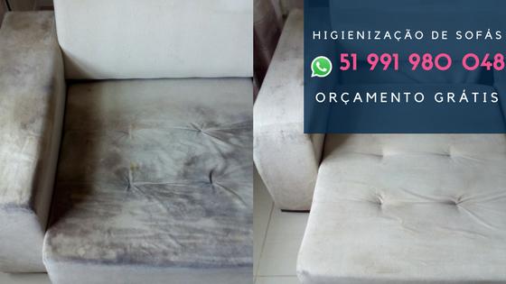 higienização de sofás em montenegro rs