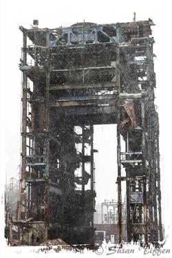 Skeleton in Snow