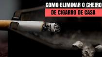 O que devo limpar para eliminar o cheiro de cigarro?