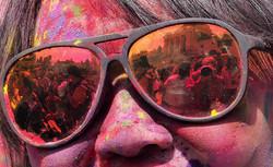 Holi Celebration in Sunglasses