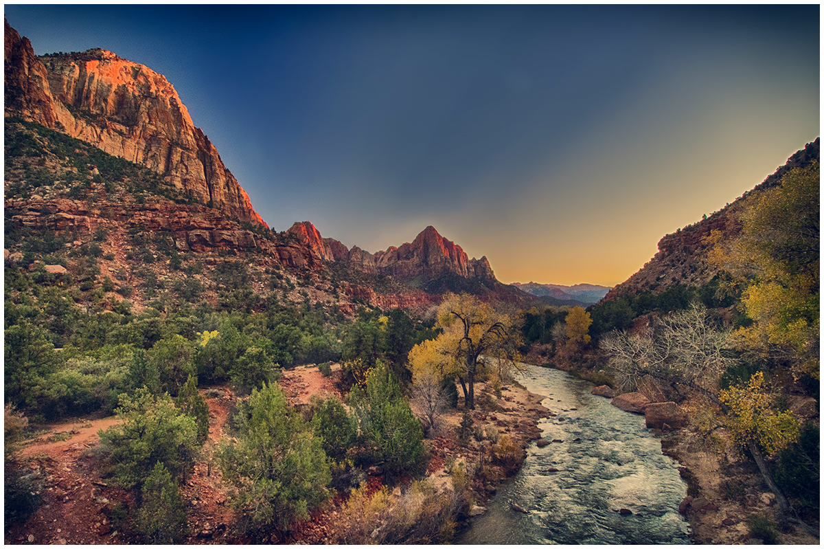River at Sunset(Zion Park)