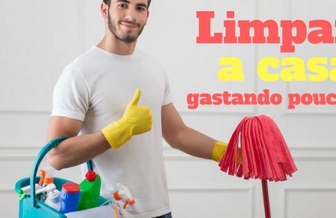 Aprenda a limpar sua casa gastando quase nada