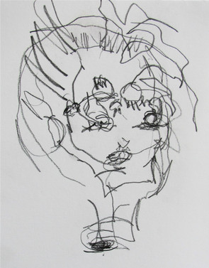 Doll Head Blindfold Drawing