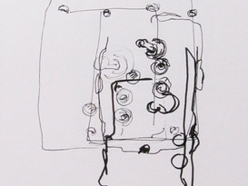 Vintage Light Switch Blindfold Drawing