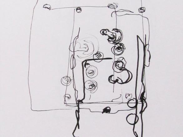 Vintage Light Switch Blindfold Drawing