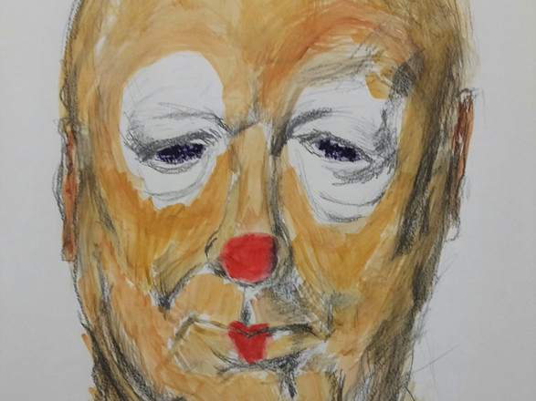 Statue Head Clowned