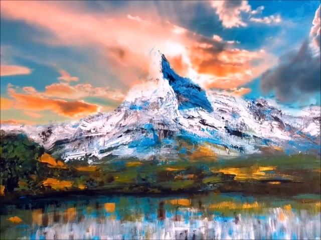 Digital Art Switzerland Matterhorn with