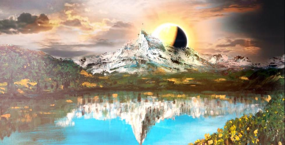 Matterhorn and sun