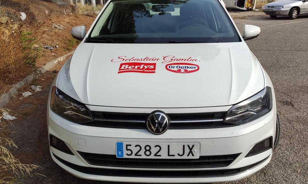 Rotulación coche Sebastián Gamba Zaragoz