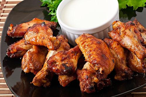 Alitas de pollo partidas