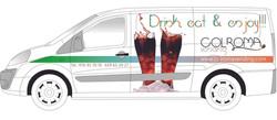 Diseño rotulación furgoneta COLROMA