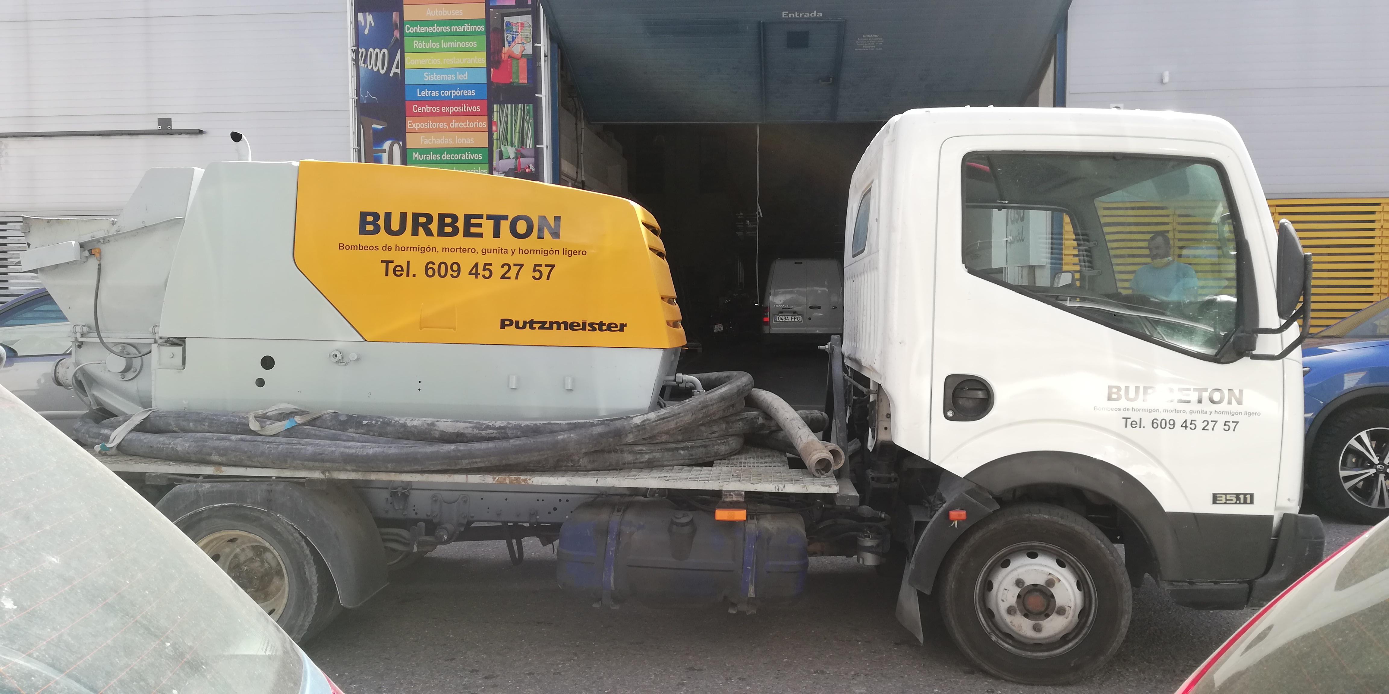 rotulación bomba BURBETON 2