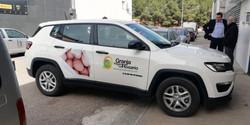 Rotulación vehículo granja virgen del ro