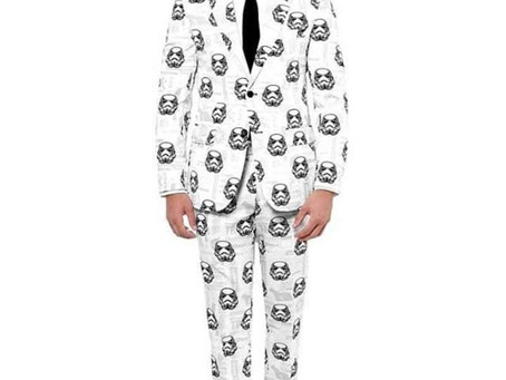 Star Wars Wedding suit. I am excited to be wearing this for Mel & Simon's Star Wars wedding.